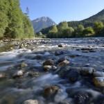 Rivière le Chéran – Partie renaturée à Lescheraines – Massif