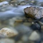 Galets dans la Rivière le Chéran à Lescheraines – Massif de