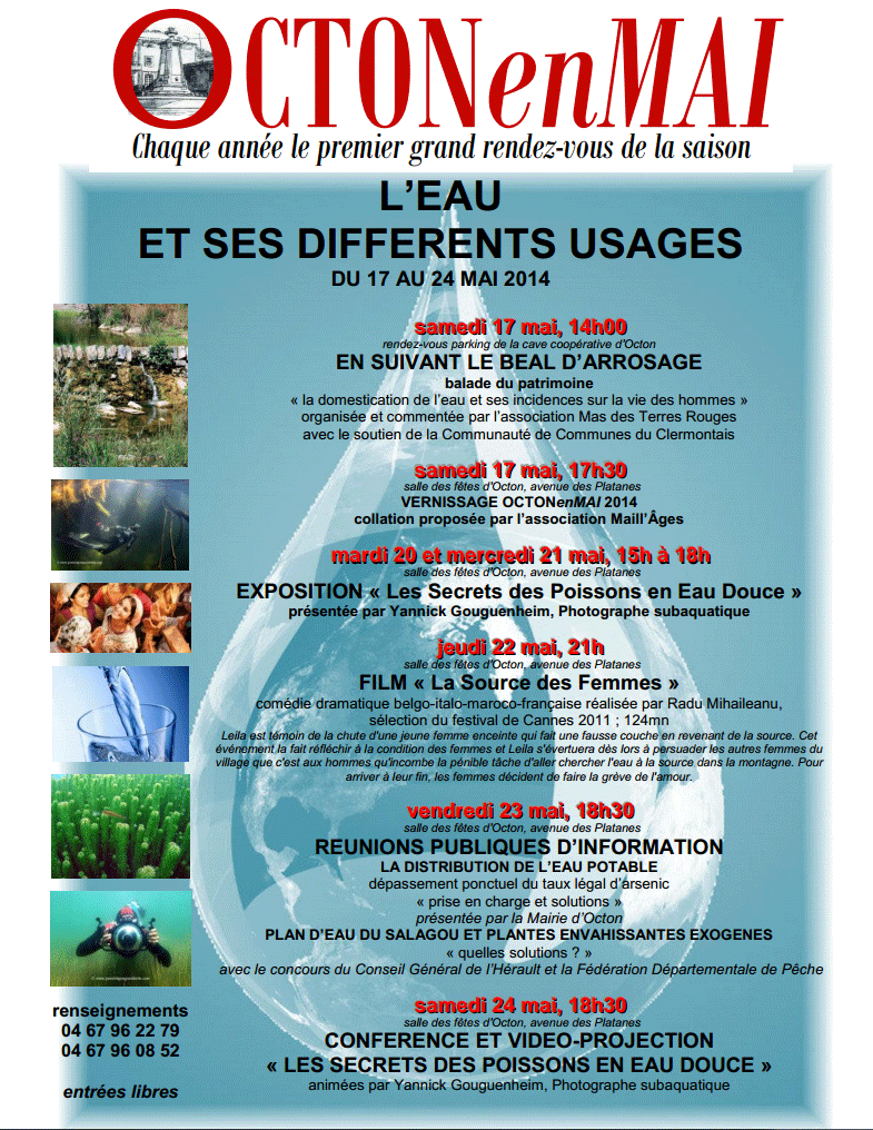 Octon en mai 2014 : Expo photo et conference